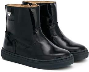 Armani Junior patent ankle boots