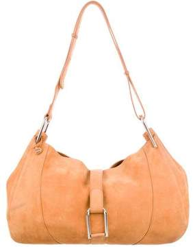 Delvaux Suede Hobo Bag