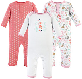 Hudson Baby Woodland Fox Playsuit Set - Newborn & Infant