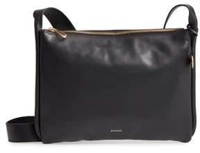 Skagen Slim Anesa Leather Crossbody Bag - Black