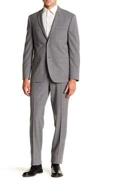 Ben Sherman Netley Grey Plaid Two Button Notch Lapel Suit
