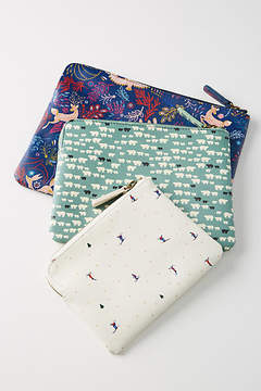 Anthropologie 52 Conversations by Colloquial Pouch Set