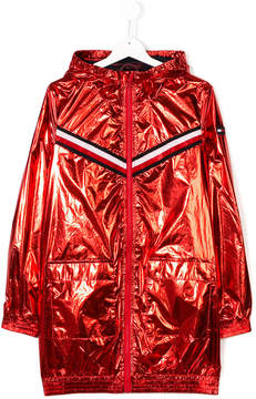Tommy Hilfiger Junior metallic stripe raincoat