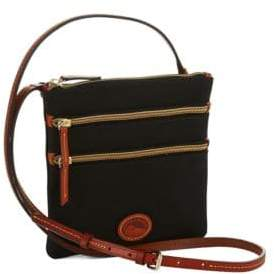 Dooney & Bourke North South Triple Zip Crossbody - BRICK - STYLE