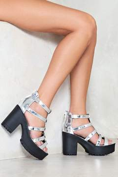 Nasty Gal Burn Down the Mission Metallic Platform Sandal