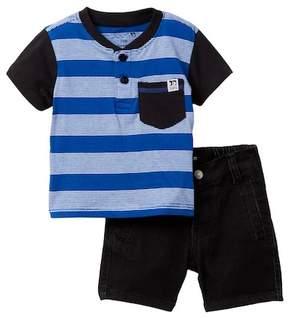 Joe's Jeans 2-Piece Short Sleeve Henley Set (Baby Boys)