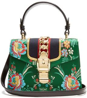 Gucci Sylvie mini floral-jacquard shoulder bag - GREEN MULTI - STYLE