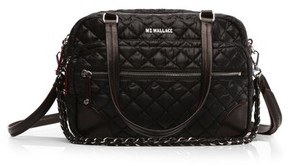 MZ Wallace Medium Crosby Quilted Oxford Nylon Crossbody Bag - Black