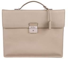 Salvatore Ferragamo Textured Leather Briefcase