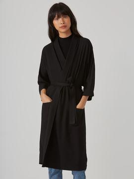 Frank and Oak Kimono Overpiece in True Black