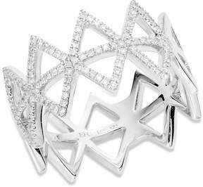 Ef Collection Women's Multi Triangle Diamond Stack Ring