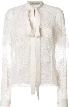 Elie Saab lace tie neck blouse