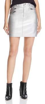 Rebecca Minkoff Myrah Metallic Faux-Leather Mini Skirt