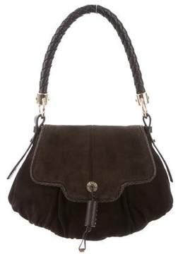 Saint Laurent Suede Leather-Trimmed Bag