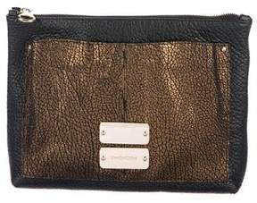 See by Chloe Metallic Pebbled Leather Clutch