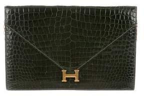 Hermes Vintage Crocodile Lydie Clutch