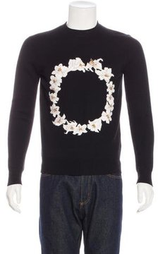 Givenchy 2016 Floral-Embroidered Wool Sweater
