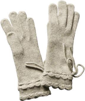 Portolano Women's Grey Cashmere Gloves