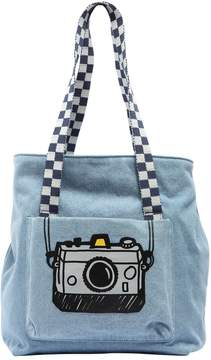 Stella McCartney Camera Printed Denim Tote Bag
