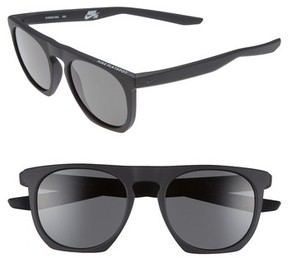 Nike Men's Flatspot 52Mm Sunglasses - Matte Black/ Deep Pewter