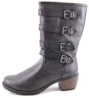 Khombu Jean Women's Buckle Strap Mid Calf Boots.