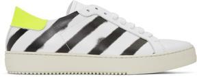 Off-White White Spray Diagonal Sneakers