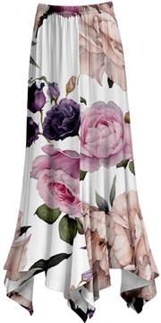 Lily White & Rose Floral Handkerchief Maxi Skirt - Women & Plus