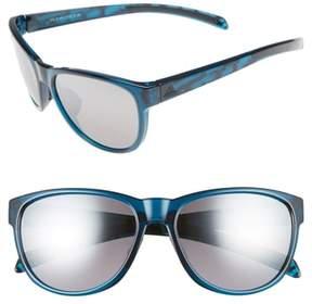 Women's Adidas Wildcharge 61Mm Mirrored Sunglasses - Grey Blue/ Grey Mirror