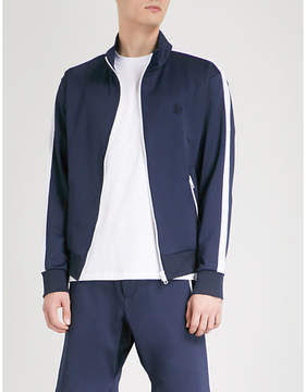The Kooples Turtleneck side-stripe stretch-jersey jacket