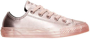 Converse Girls' Preschool Chuck Taylor All Star Ox Leather Metallic Casual Shoes