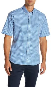 Tailorbyrd Short Sleeve Print Woven Trim Fit Dress Shirt