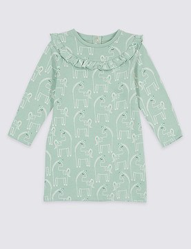 Marks and Spencer Unicorn Print Dress (3 Months - 5 Years)