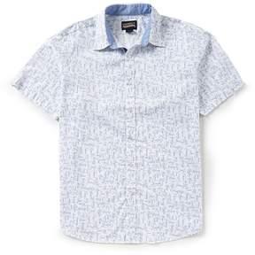 Daniel Cremieux Jeans Words Print Short-Sleeve Woven Shirt
