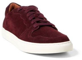 Ralph Lauren Jeston Suede Low-Top Sneaker Port 10