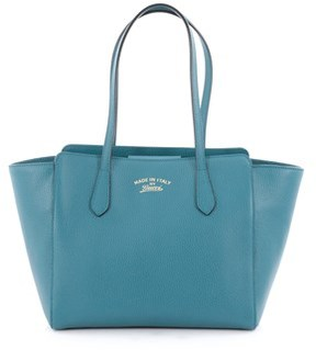 Gucci Pre-owned: Swing Tote Leather Small. - BLUE - STYLE