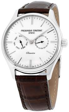 Frederique Constant Classics FC259BRST5B6 Silver Tone Stainless Steel & White Dial 39mm Mens Watch
