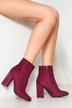 Nasty Gal nastygal Funny Feeling Vegan Suede Ankle Boot