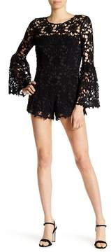 Alexia Admor Bell Sleeve Lace Romper