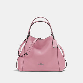 COACH Coach Edie Shoulder Bag 28 - DARK GUNMETAL/DUSTY ROSE - STYLE