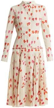 Alexander McQueen Heart-print button-down dress