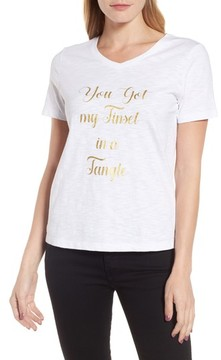 Draper James Women's Tinsel In A Tangle V-Neck Tee