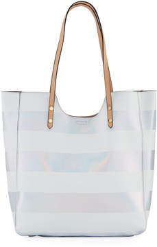 Neiman Marcus Gidget Holographic Shiny Tote Bag