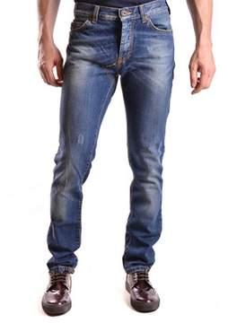 Frankie Morello Men's Blue Cotton Jeans.