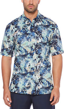 Cubavera Tropical Jungle Print Shirt