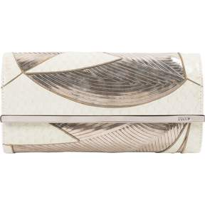Emilio Pucci Ecru Leather Clutch Bag