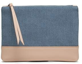 Banana Republic Denim Small Zip Pouch