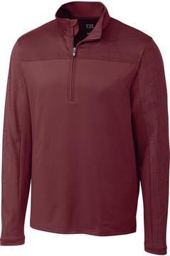 Cutter & Buck Burgundy Zip-Front Pullover - Men