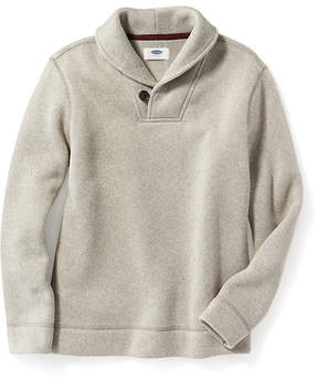 Old Navy Shawl-Collar Sweater-Knit Fleece Pullover for Boys