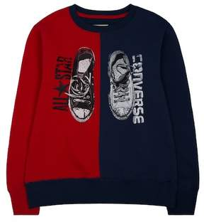 Converse Splits Sneaker Crew Sweater (Big Boys)