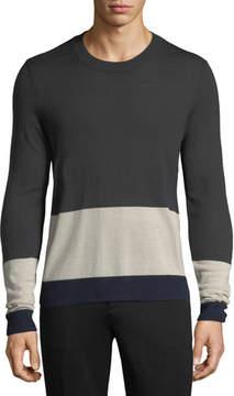 ATM Anthony Thomas Melillo Merino Wool Colorblocked Sweater